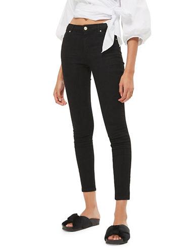 Topshop MOTO Sidney Jeans 30-Inch Leg-BLACK-25X30
