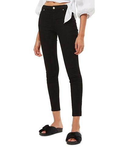 Topshop MOTO Sidney Jeans 32-Inch Leg-BLACK-25X32