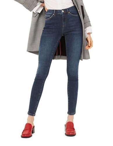 Topshop MOTO Sidney Jeans 30-Inch Leg-INDIGO-32X30