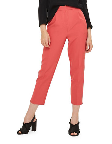 Topshop Split Hem Peg Trousers-ROSE-UK 16/US 12