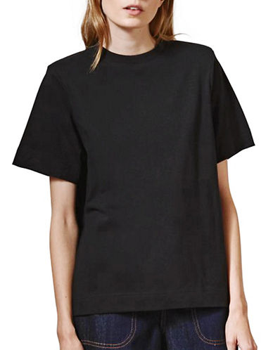 Topshop Powder Shoulder Tee by Boutique-BLACK-UK 10/US 6