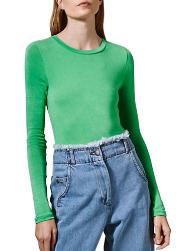 Topshop Long-Sleeved Top by Boutique-GREEN-UK 10/US 6