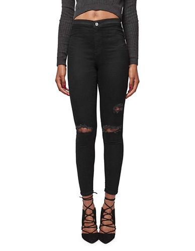Topshop PETITE MOTO Joni Jeans 28-Inch Leg-BLACK-26X28