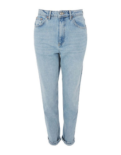 Topshop MOTO Super Bleach Mom Jeans 30 Inch Leg-BLEACH-28X30