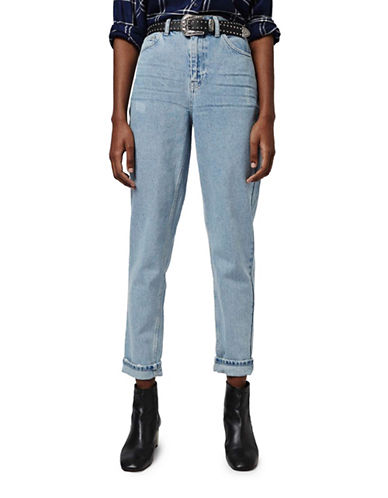 Topshop MOTO Bleach Mom Jeans 32-Inch Leg-BLEACH-28X32