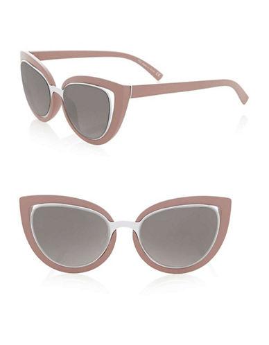 Topshop Saskia Cateye Sunglasses-PINK-One Size