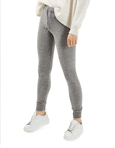 Topshop Super Soft Slim Joggers-GREY MARL-UK 8/US 4