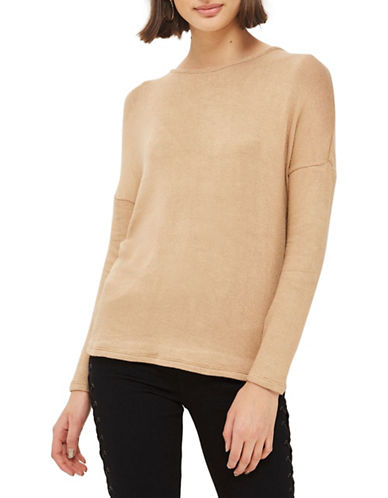 Topshop PETITE Tie-Back Sweater-NUDE-UK 6/US 2