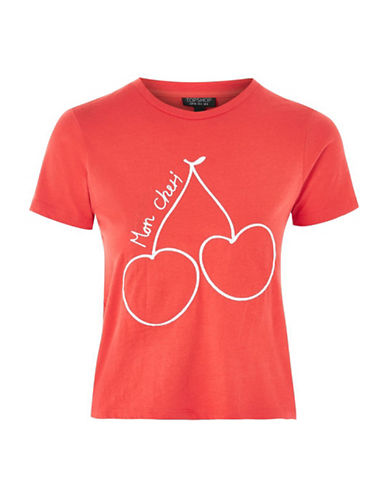 Topshop Mon Cheri Tee by Motel-RED-UK 10/US 6