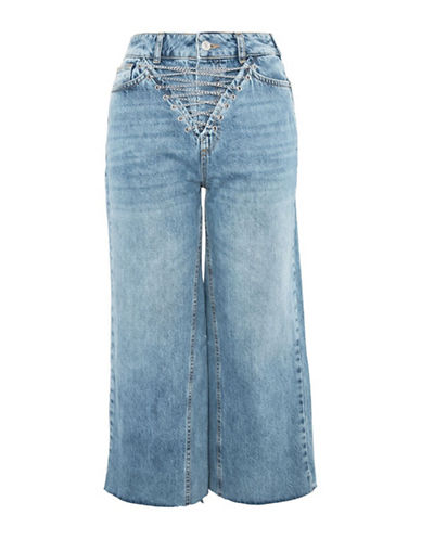 Topshop MOTO Chain Fly Jeans 30-Inch Leg-MID DENIM-26X30