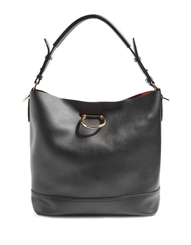 Topshop Remy Hobo Bag-BLACK-One Size