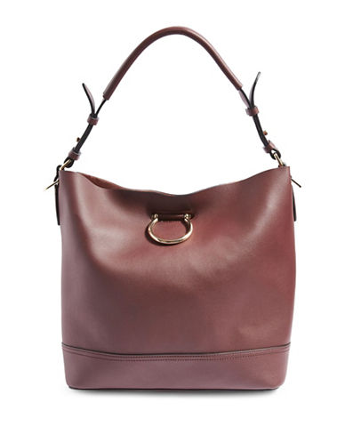 Topshop Remy Hobo Bag-BURGUNDY-One Size