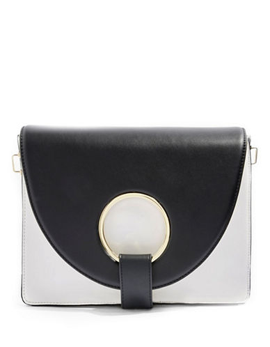 Topshop Shay Ring Shoulder Bag-MONOCHROME-One Size