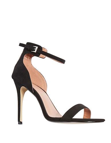 Topshop Marcelle Two-Part Sandals-BLACK-EU 40/US 9.5
