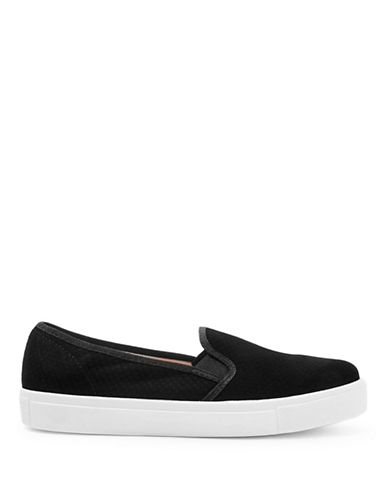 Topshop Womens Tempo Satin Slip-On Trainers-BLACK-EU 41/US 10.5