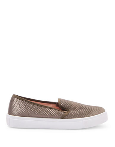 Topshop Womens Tempo Satin Slip-On Trainers-KHAKI-EU 40/US 9.5