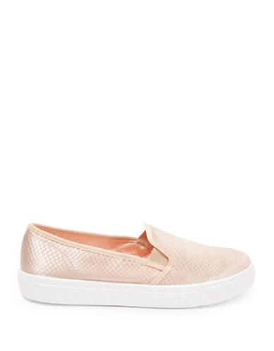 Topshop Womens Tempo Slip-On Anaconda Trainers-NUDE-EU 37/US 6.5