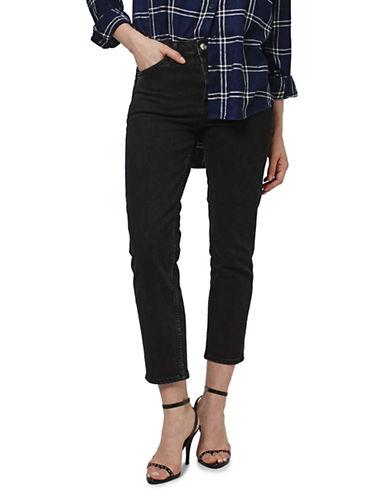 Topshop MOTO Straight Leg Jeans 32-Inch Leg-BLACK-26X32