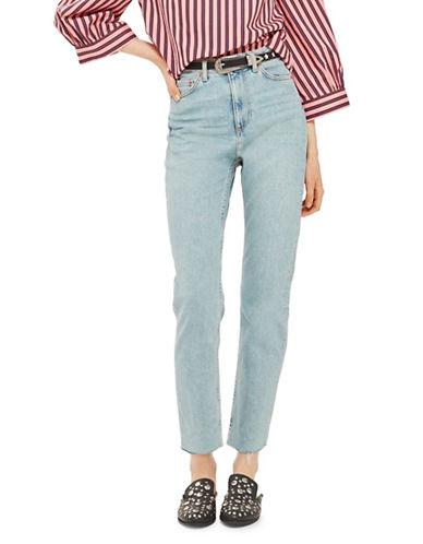 Topshop MOTO Vintage Bleach Straight-Leg Jeans 32-Inch Leg-BLEACH-26X32