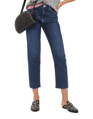 Topshop MOTO Straight-Leg Jeans 32-Inch Leg-DENIM-25X32