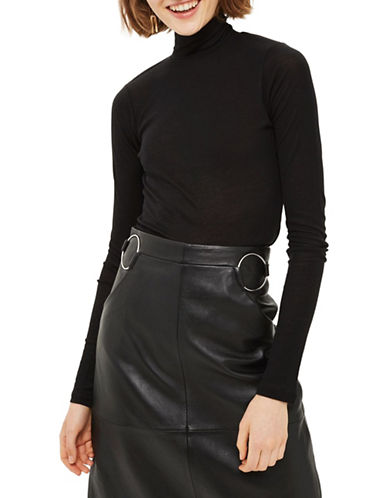 Topshop Fine Knit Top-BLACK-UK 6/US 2