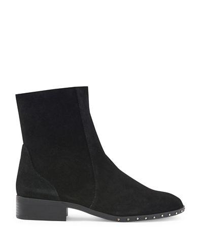 Topshop Kash Suede Sock Boots-BLACK-EU 36/US 5.5