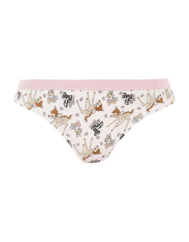 Topshop Disney Bambi Mini Panties-WHITE-UK 12/US 8