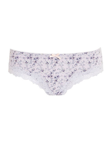 Topshop Floral-Printed Panties-LILAC-UK 12/US 8