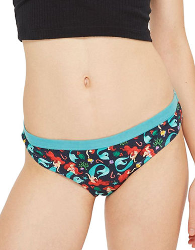 Topshop Ariel Print Mini Panties by Disney-BLUE-UK 6/US 2