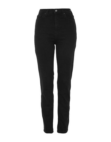 Topshop Moto Orson Skinny Jeans-BLACK-25X30