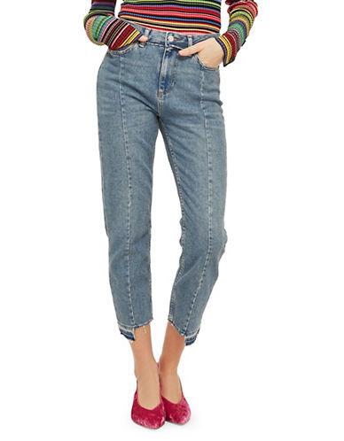 Topshop MOTO Reformed Straight-Leg Jeans 30-Inch Leg-MID DENIM-30X30