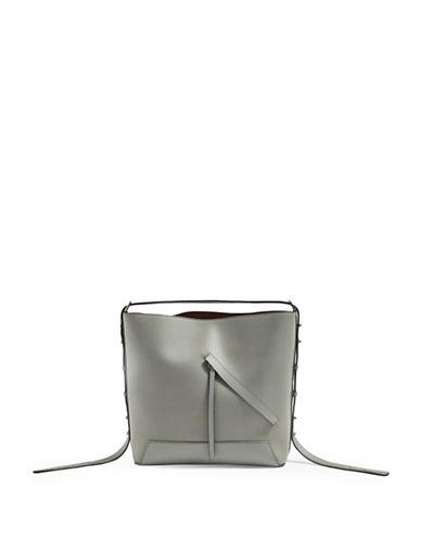 Topshop Sicily Asymmetric Hobo Bag-GREY-One Size