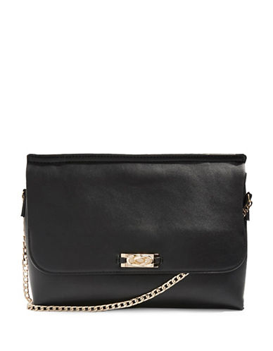 Topshop Charlie Chain Clutch Bag-BLACK-One Size