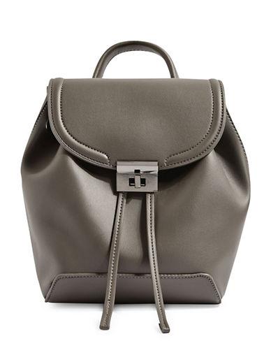 Topshop Mini Lock Backpack-GREY-One Size
