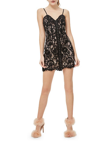 Topshop Hook-and-Eye Bustier Dress-BLACK-UK 12/US 8