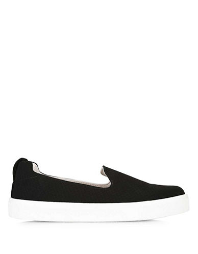 Topshop Temp Slip-On Anaconda Trainers-BLACK-EU 37/US 6.5