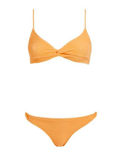 Topshop Twist-Front Bikini Top-ORANGE-UK 8/US 4
