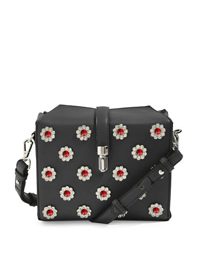 Topshop Bertie Boxy Crossbody Bag-BLACK-One Size