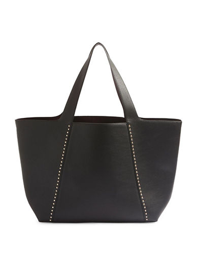 Topshop Simba Studded Tote-BLACK-One Size