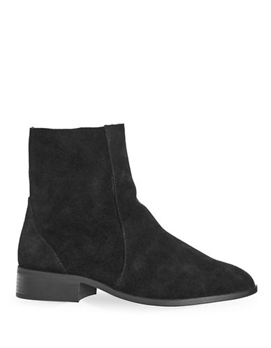 Topshop Krash Suede Sock Boots-BLACK-EU 41/US 10.5