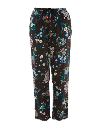 Topshop Floral Pyjama Trousers-BLACK-UK 8/US 4