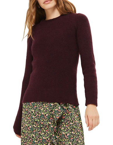 Topshop Ribbed Pullover-PURPLE-UK 6/US 2