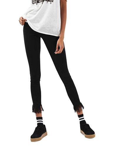 Topshop Moto Jamie Jeans-BLACK-26X32