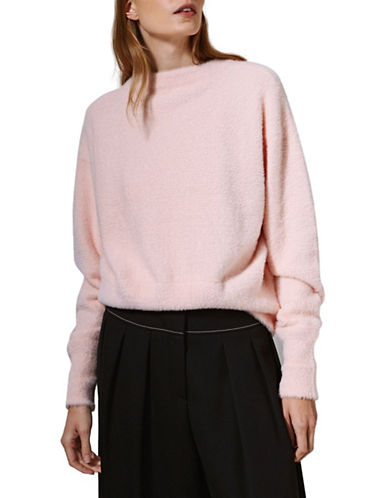 Topshop Feather Knit Sweater by Boutique-PINK-UK 14/US 10