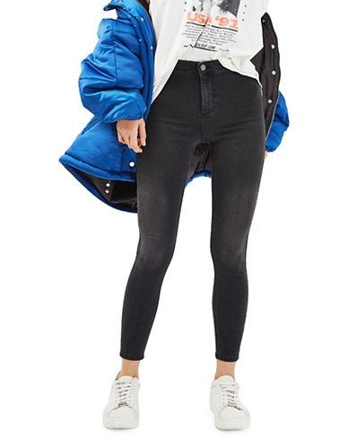 Topshop MOTO Black Joni Jeans-BLACK-24X28