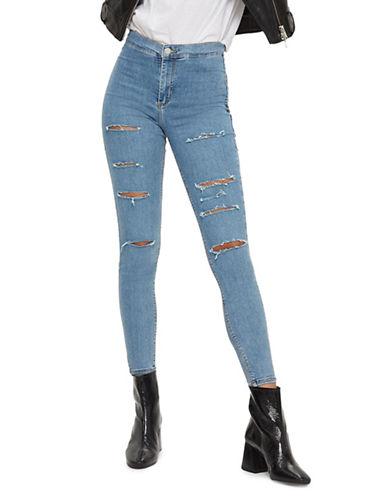Topshop MOTO Super Ripped Joni Jeans 32-Inch Leg-BLEACH-30X32