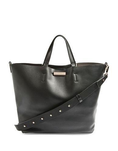 Topshop Selina Soft Shopper Bag-BLACK-One Size