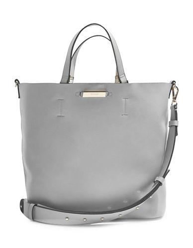 Topshop Selina Soft Shopper Bag-GREY-One Size