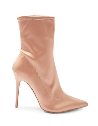 Topshop Margarita Stretch Boot Heels-NUDE-EU 37/US 6.5