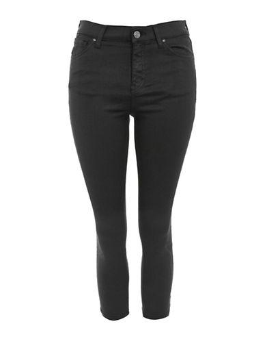 Topshop PETITE Coated Jamie Jeans 28-Inch Leg-BLACK-30X28